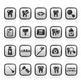 dental medicine and dentistry tools icons Royalty Free Stock Photo