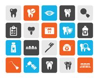Dental medicine and dentistry tools icons. Vector Icon set vector illustration