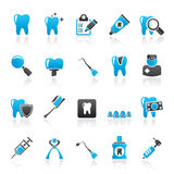 Dental medicine and tools icons Stock Photos