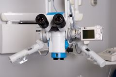 Dental microscope. With digital camera Stock Image