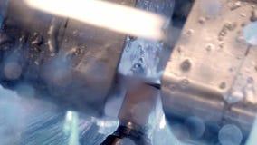 Dental milling machine CAD CAM grinds the dental prosthesis.  stock footage