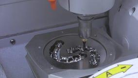 Dental milling machine. Dry touch dental milling machine, stomatology equipment closeup process stock video