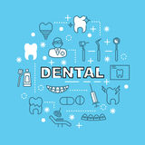 Dental minimal outline icons Royalty Free Stock Photo