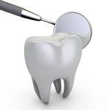 Dental mirror Stock Photo