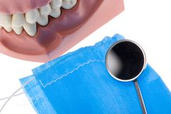 Dental mold and mirror Royalty Free Stock Images