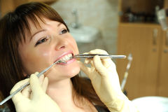 In the dental office Royalty Free Stock Photo