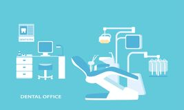 Dental office advanced . Flat design Stock Photos