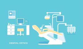 Dental office advanced . Flat design Stock Images