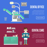 Dental office and care templates. Royalty Free Stock Image