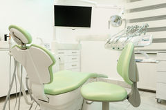 Dental Office. Empty dental cabinet with chair and medical equipment Stock Image