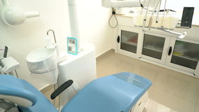 Dental office without people. Dental office equipment without people stock footage