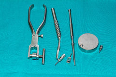 Dental operation equipment tools Stock Image