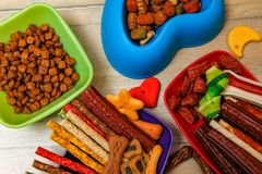 Delicious for dogs or dog`s snacks stock image