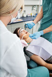 Dental Patient Receiving Local Anesthetic Royalty Free Stock Image
