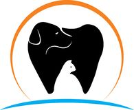 Dental pet dog and cat logo royalty free illustration
