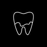 Dental Plaque line icon. Dental and medicine, tooth sign vector graphics, a linear pattern on a black background, eps 10 Stock Illustration