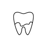 Dental Plaque line icon. Dental and medicine, tooth sign vector graphics, a linear pattern on a white background, eps 10 Vector Illustration