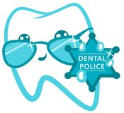 Dental Police. Cop With A Badge. Stock Image