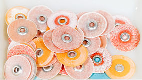 Dental polishing discs Royalty Free Stock Image