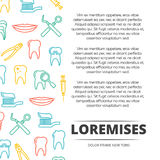 Dental poster design with colorful icons Royalty Free Stock Photography