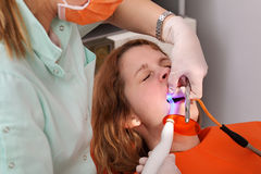 Dental procedure, led laser Stock Photos