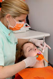 Dental procedure, led laser Stock Images