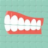 dental Projeto liso do fundo da higiene oral ilustração stock