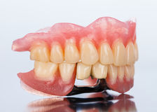 Dental Prosthesis - side view Stock Photos