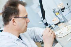 Dental prosthesis work Stock Photos