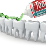Dental protection, Teeth and toothpaste Royalty Free Stock Images