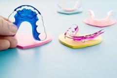 Dental retainer orthodontic appliance. stock images