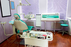 Dental room. Office in the medical clinic stock photos