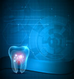 Dental scientific background Royalty Free Stock Image