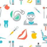 Dental seamless pattern background Stock Image