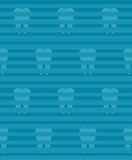 Dental seamless pattern with blue background and Royalty Free Stock Image