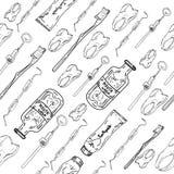 Dental seamless pattern Stock Images