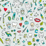 Dental seamless pattern, sketch for your design Royalty Free Stock Image
