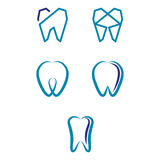 Dental. A set of dental, endodontics icons Royalty Free Stock Photos