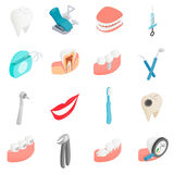 Dental set icons, isometric 3d style Royalty Free Stock Photography