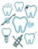 Dental set. Isolated on white Stock Photo