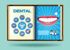 Dental set on notebook page vector illustration Royalty Free Stock Image