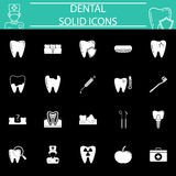 Dental solid icon set Royalty Free Stock Image