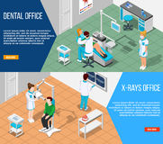 Dental Solutions Banners Set Stock Photos