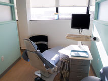 Dental station. Clean dental area for examination Stock Photo