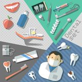 Dental stickers set Stock Image