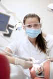 Dental Student First Experince Stock Image