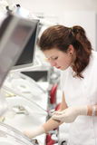 Dental student practice Royalty Free Stock Photos