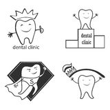 Dental symbol collection. Clean and bright designs. Royalty Free Stock Image