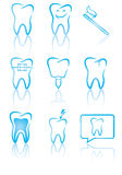 Dental symbols Stock Photos