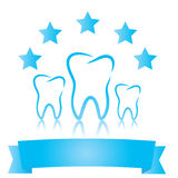 Dental symbols. Five stars Royalty Free Stock Photography